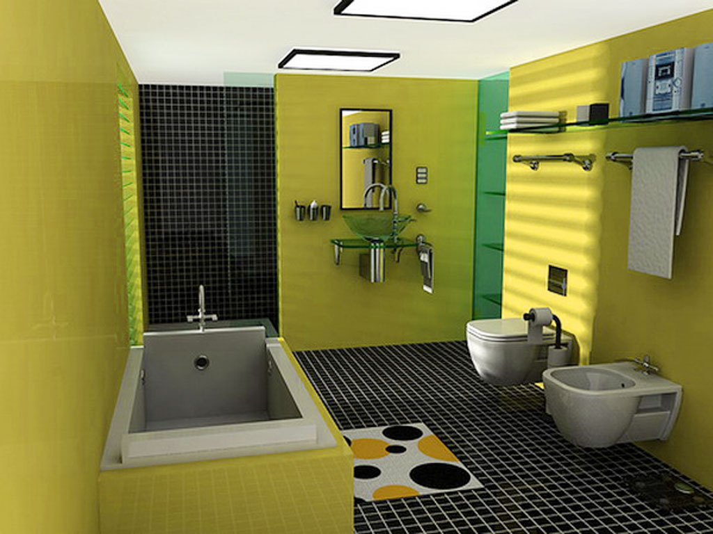 Beautify Your Bathroom Paint Colors For Small Bathrooms: Lime Green Small  Bathroom Color