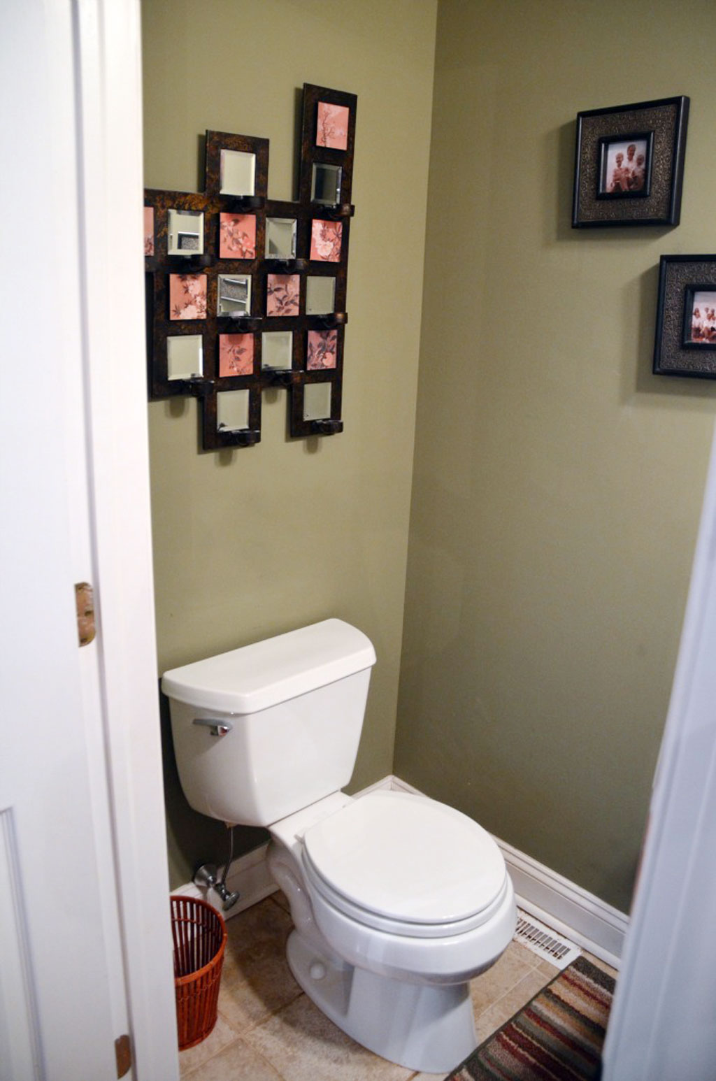 Decorating a half bath - Photo Gallery Of The Half Bath Orange With Lamp Decor