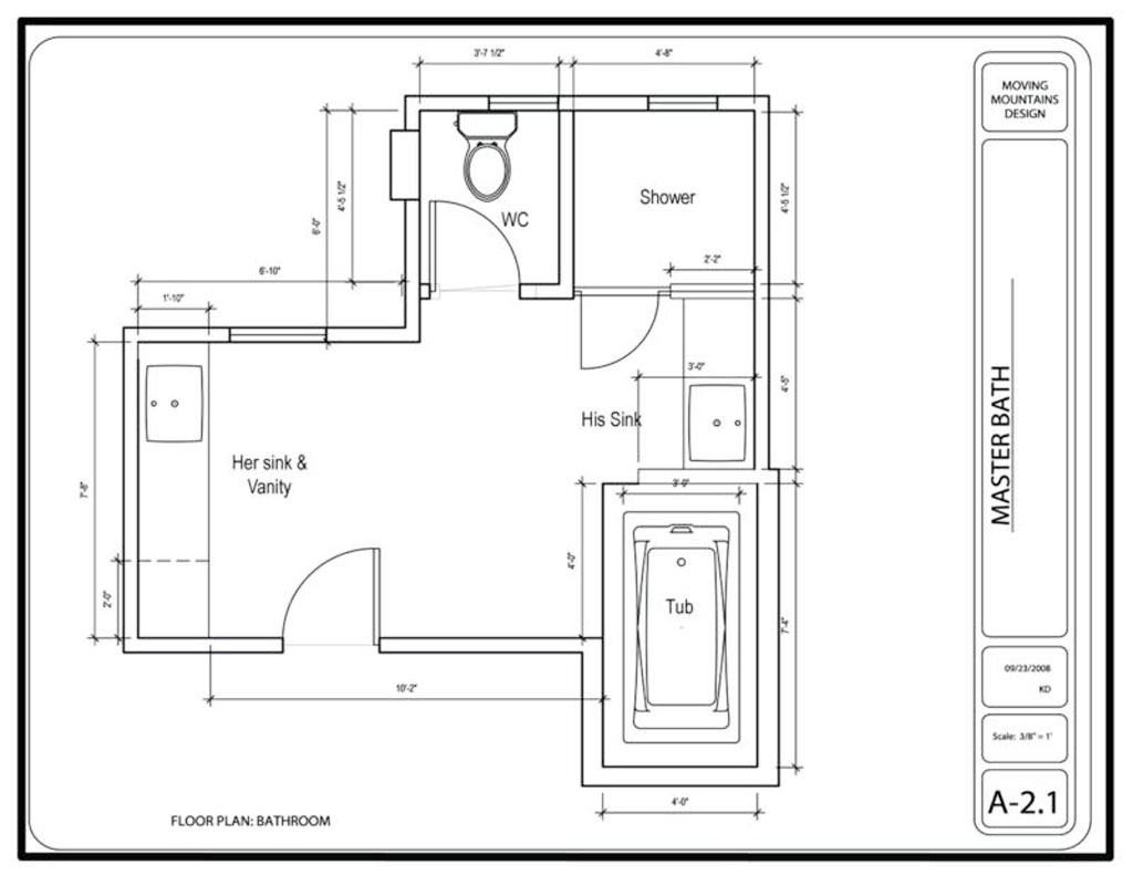 How To Make Master Bathroom Layout