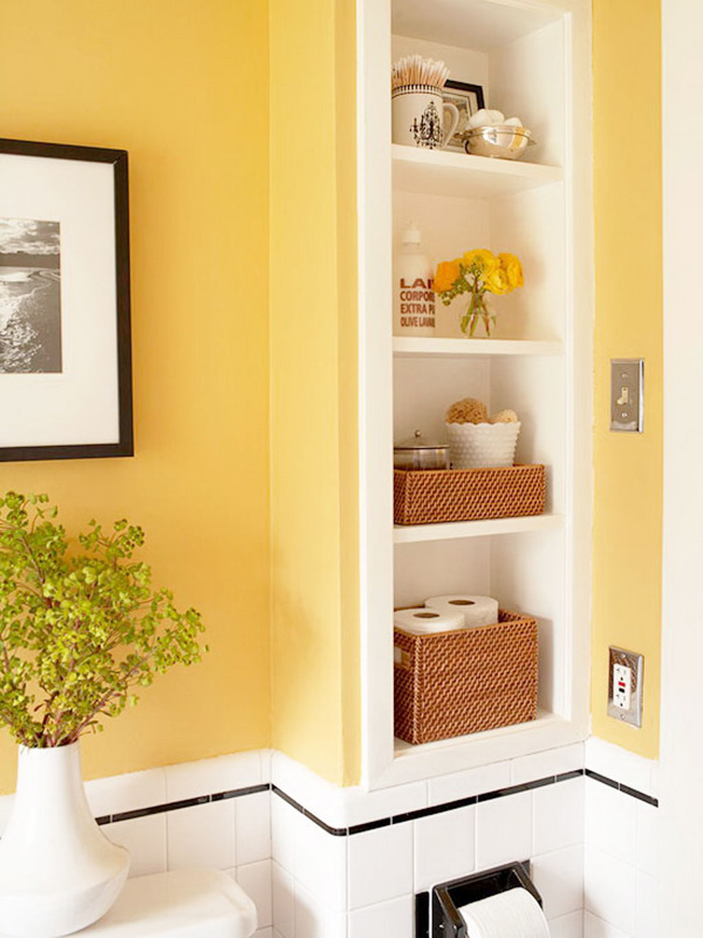 Small Bathroom Yellow yellow-small-bathroom-cabinet : ewdinteriors