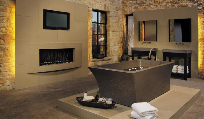 Photo Gallery Of The Bathrooms With Fireplace Design