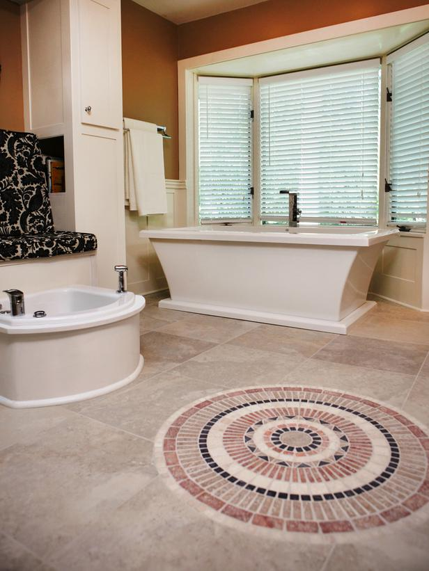 8 Pretty Bathroom Floor Design: Bathroom Tile Floor