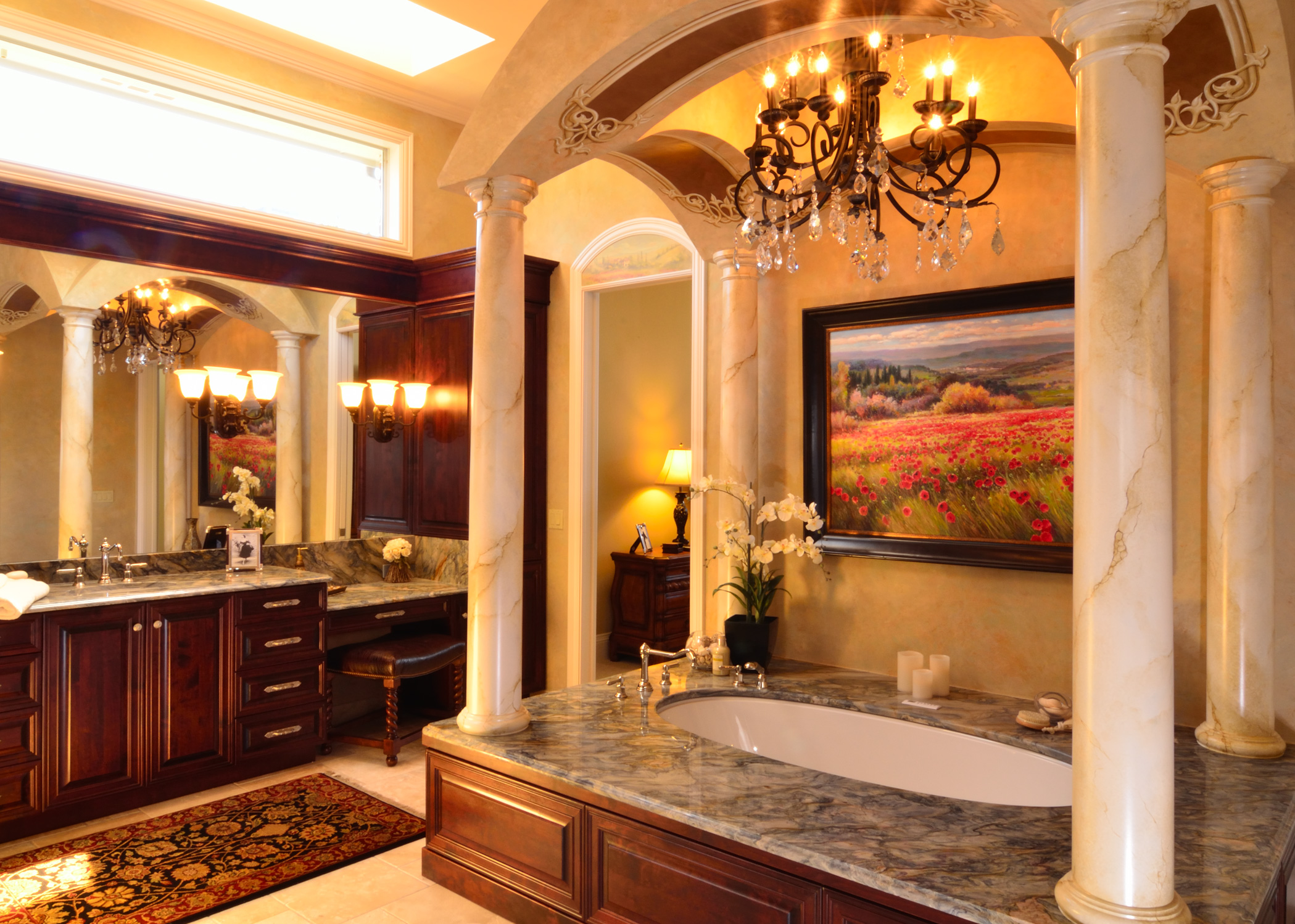 photo gallery of the master bathroom design in the tuscan - Tuscan Bathroom Design
