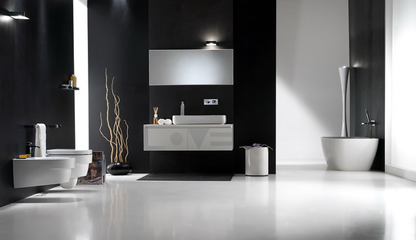 Photo Gallery Of The Black And White Modern Bathroom Part 58