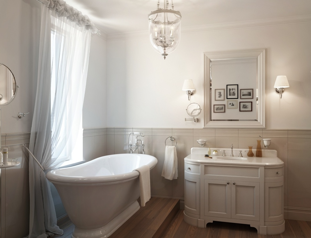 photo gallery of the small traditional bathroom design