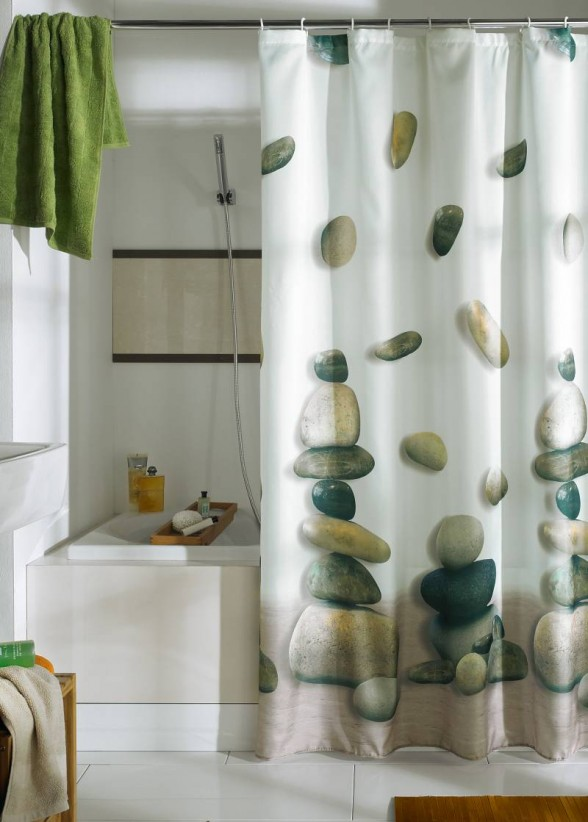 Photo Gallery Of The Refreshing Shower Curtain Designs For The Modern Bath