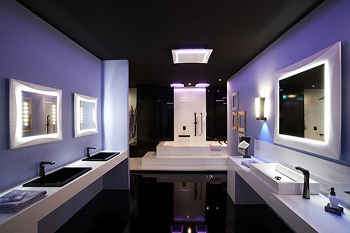 Photo Gallery Of The Modern Bathroom Design Ideas With Mirrors