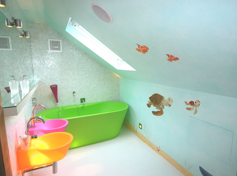 kids bathroom remodel ideas and colorful - Bathroom Remodel Kids