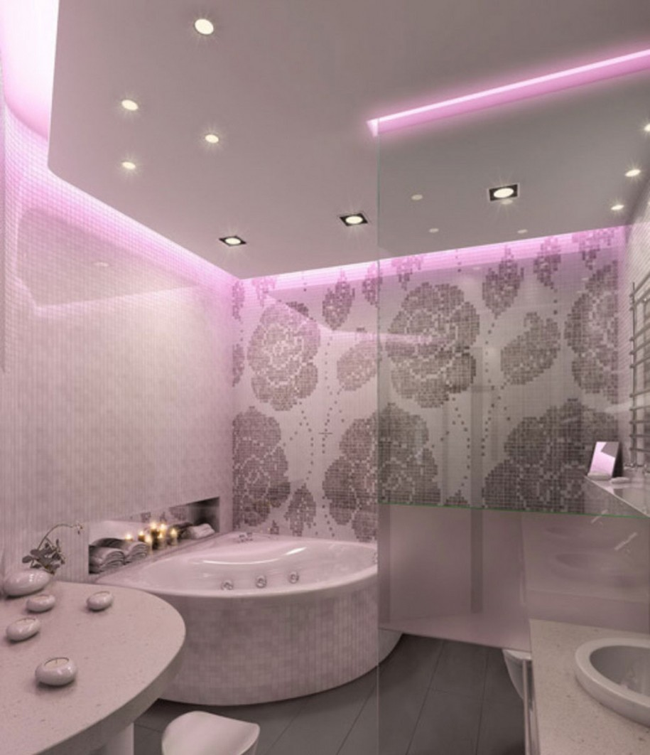 Bathroom ceiling lights ideas - Photo Gallery Of The Lovely Bathroom Lighting Ideas