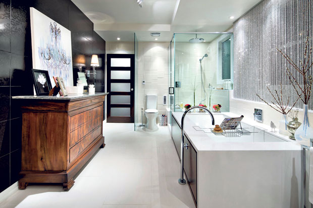 Photo gallery of the divine bathroom design