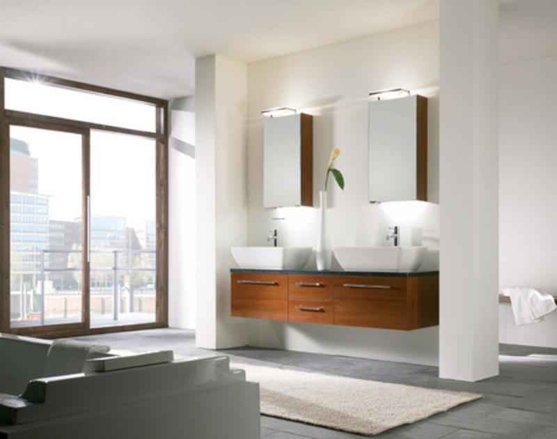 Modern bathroom light fixtures : EwdInteriors
