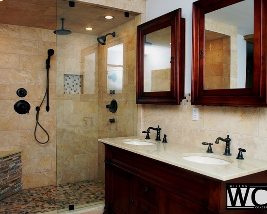 Photo Gallery Of The Travertine Bathroom