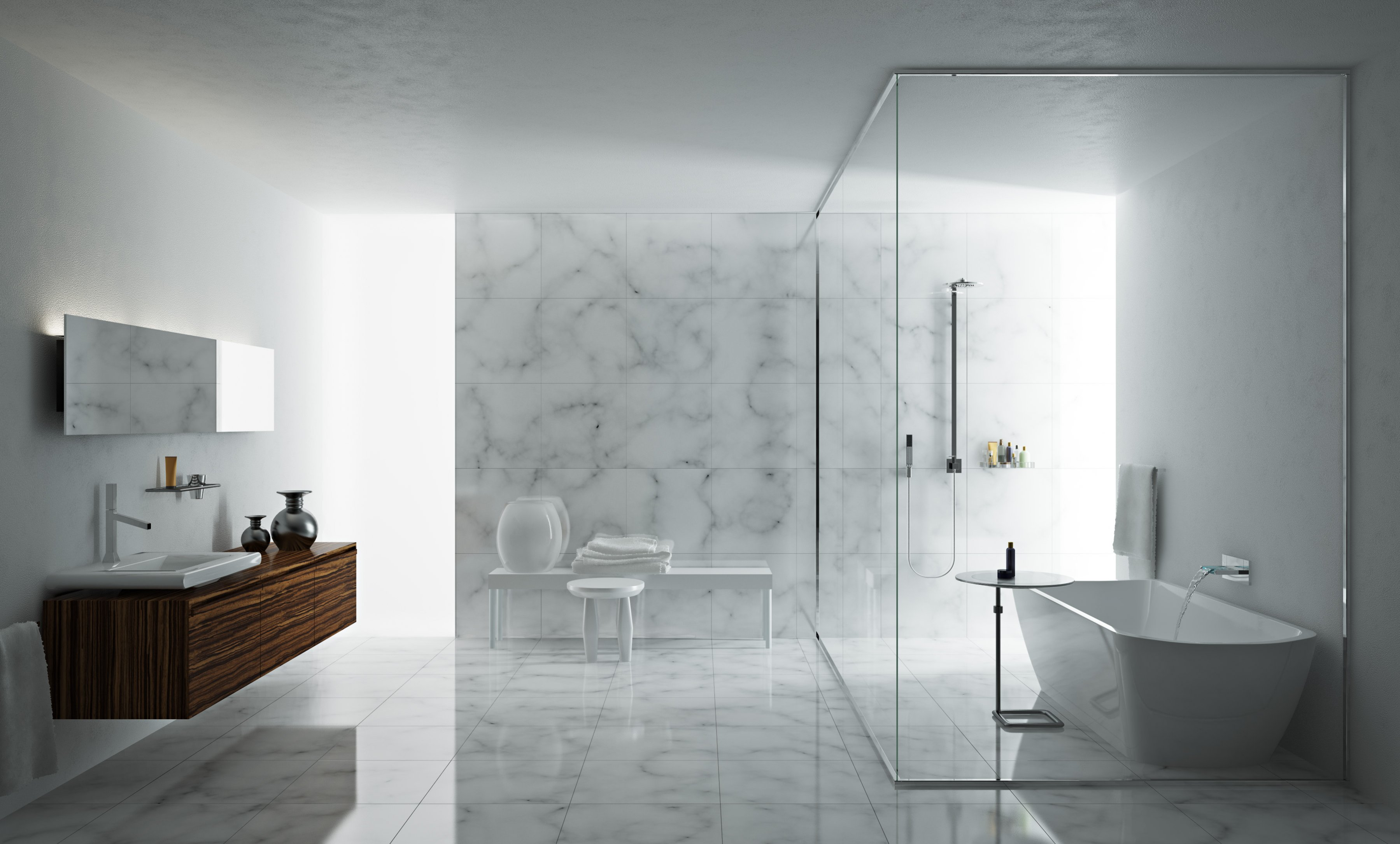 The Best Marble Bathroom Designs : EwdInteriors