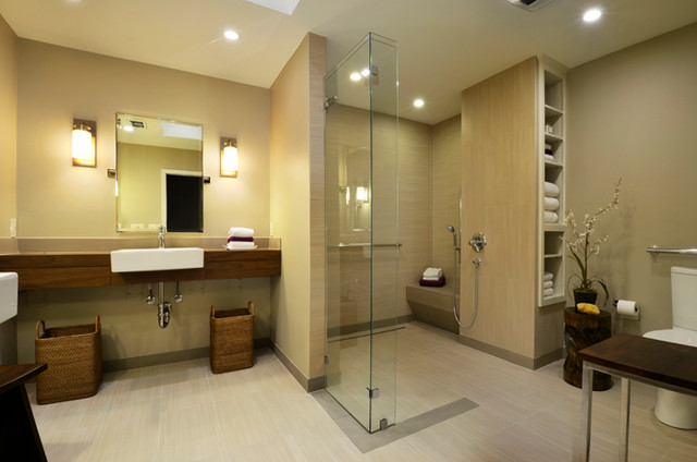 Photo Gallery Of The Modern Universal Design Bathroom Remodel