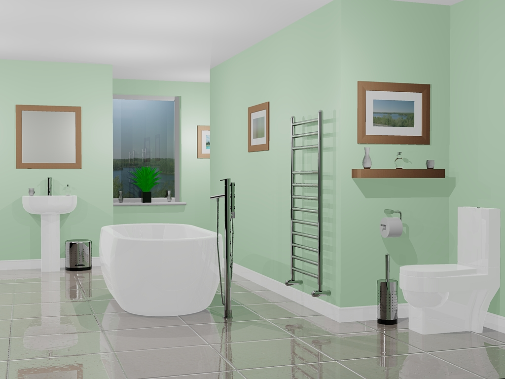 Photo Gallery Of The Green Themed Bathroom Design Ideas