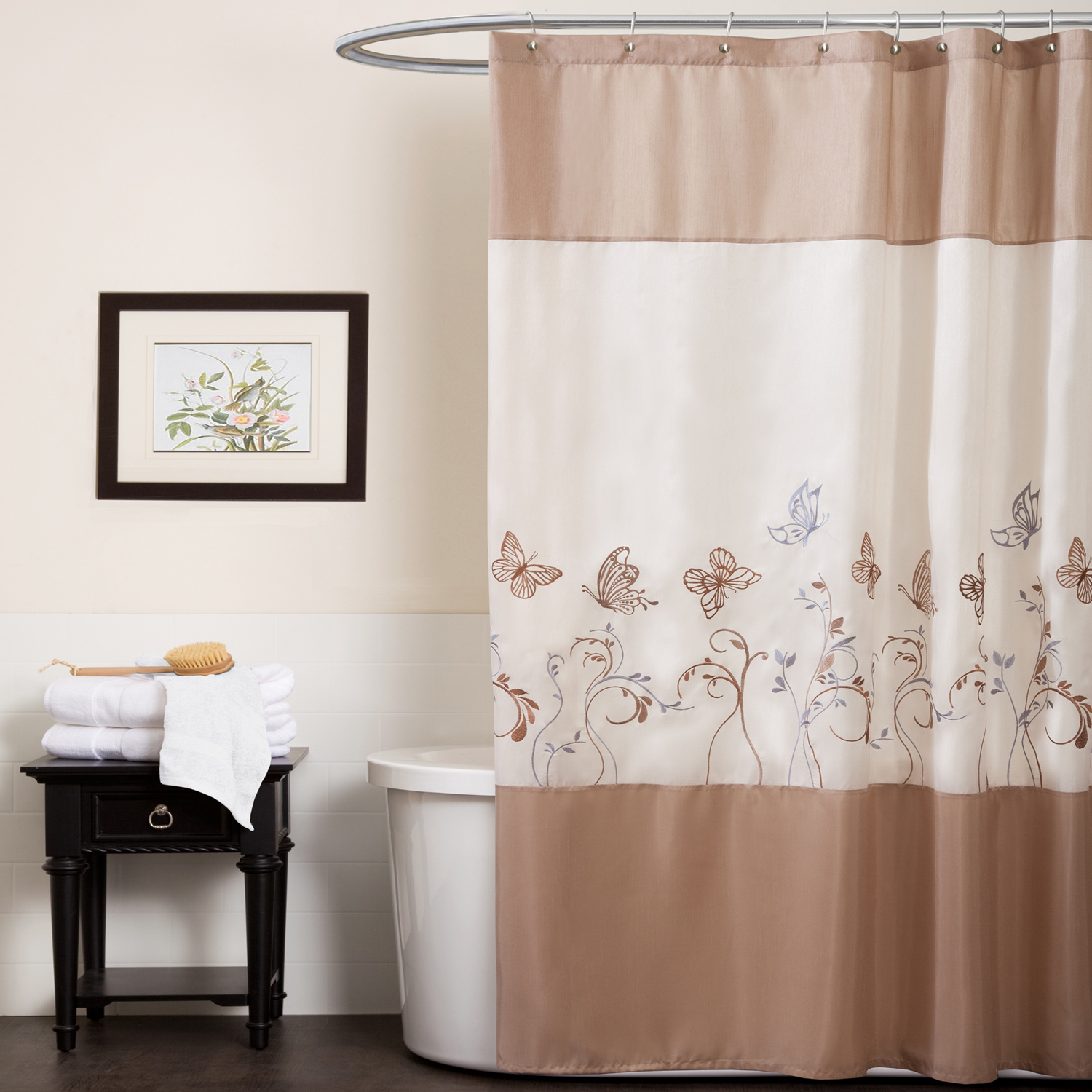 Curtains for the bathroom - Photo Gallery Of The Colorful Bathroom Shower Curtains