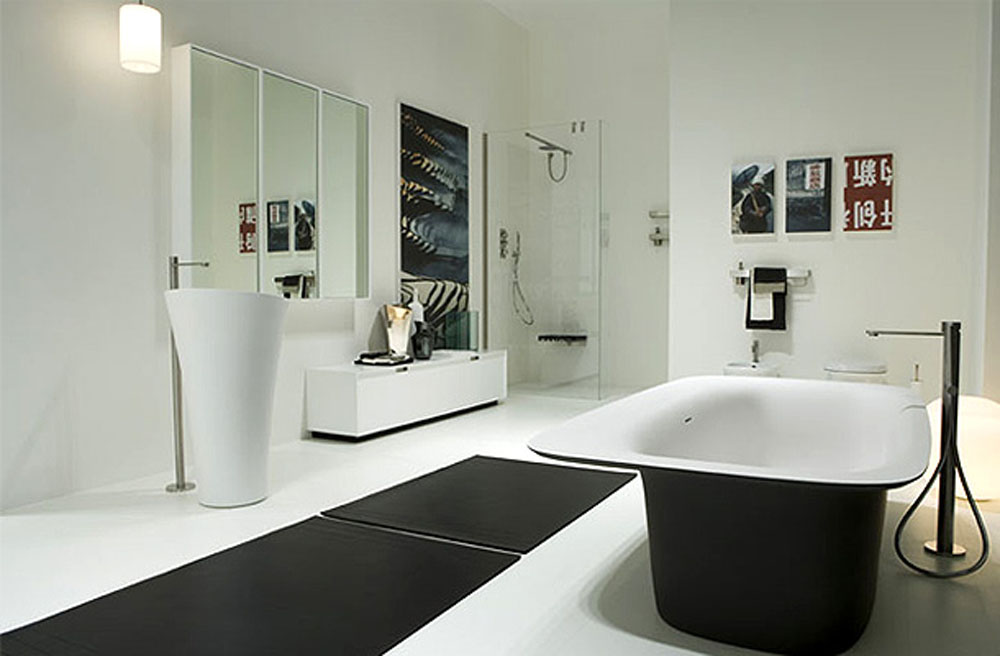 Marvelous Black And White Modern Bathroom Awesome Design