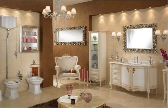 Photo Gallery Of The Classic Contemporary Bathroom Design