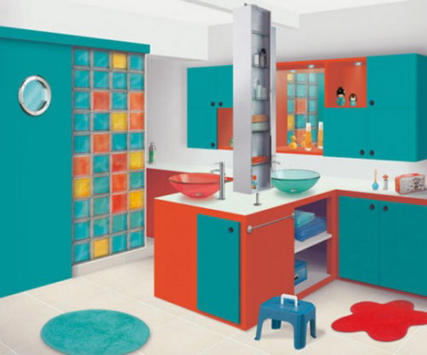 9 Awesome Kids Bathroom Design Ideas: Colorful Kids Bathroom Designs