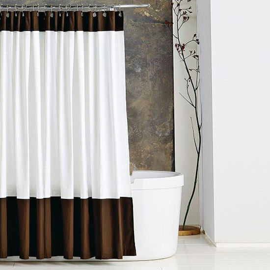Photo Gallery Of The Colour Block Shower Curtain