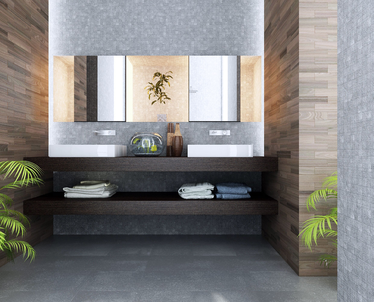 stylish modern bathroom design with white finish picture