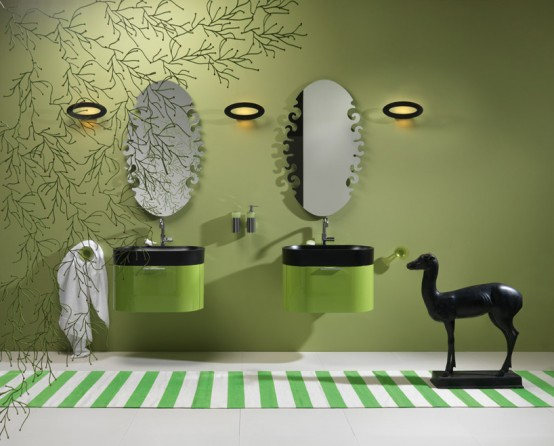 Green Bathroom Design Ideas. Green Bathroom Color Ideas  mint color in furniture  Room Color