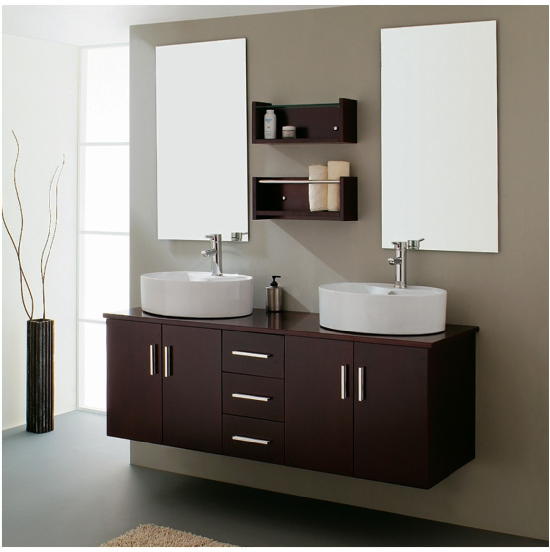 Modern bathroom decor accessories - Photo Gallery Of The Modern Bathroom Accessories Ideas