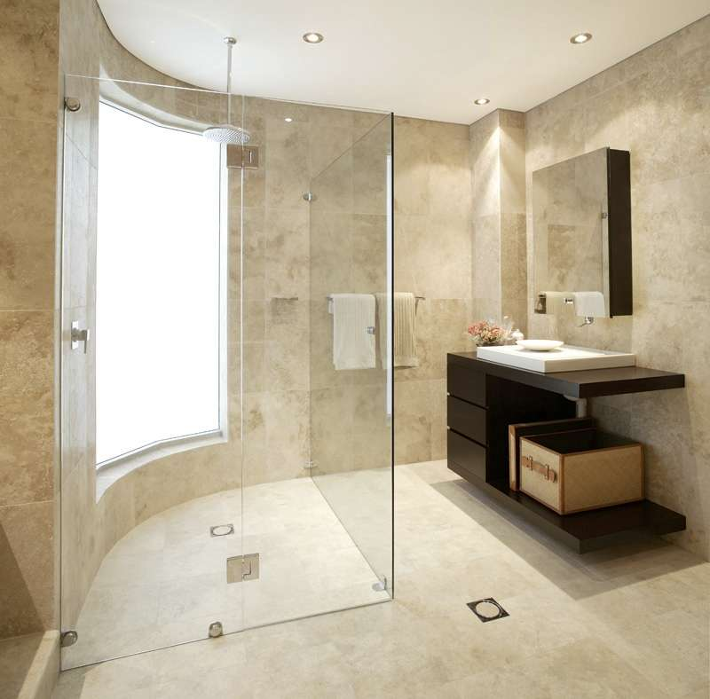photo gallery of the modern universal design bathroom remodel - Universal Design Bathrooms