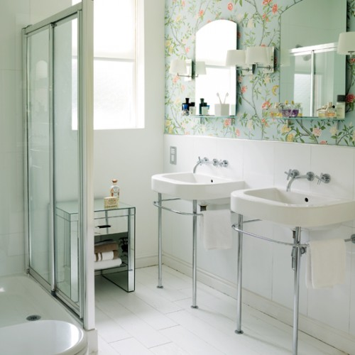 Great 8 Ideal Designer Wallpaper For Bathrooms: Vinyl Wallpapers For Bathrooms