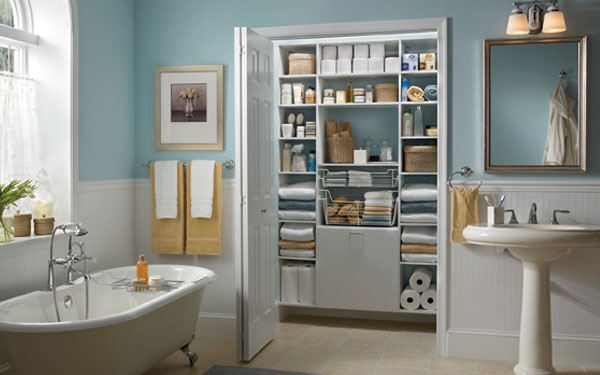 8 Cute Bathroom Closet Design Ideas: Bathroom Linen Closets