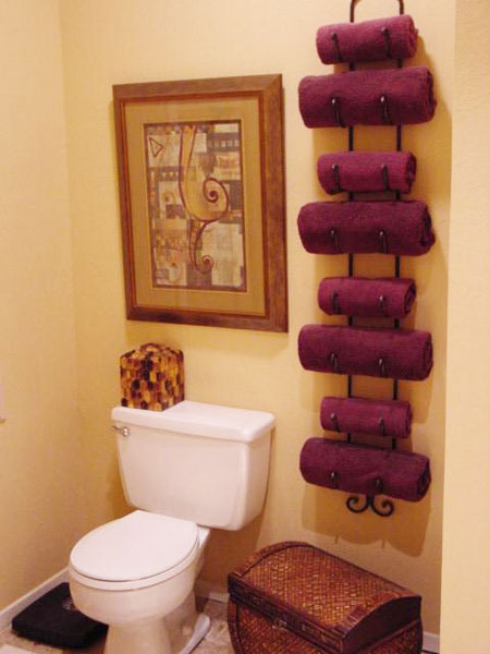 Bathroom Towel Storage Ideas EwdInteriors - Designer towels sale for small bathroom ideas