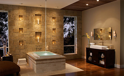 8 Amazing Bathroom Wall Design Ideas: Bathroom Wall Stone