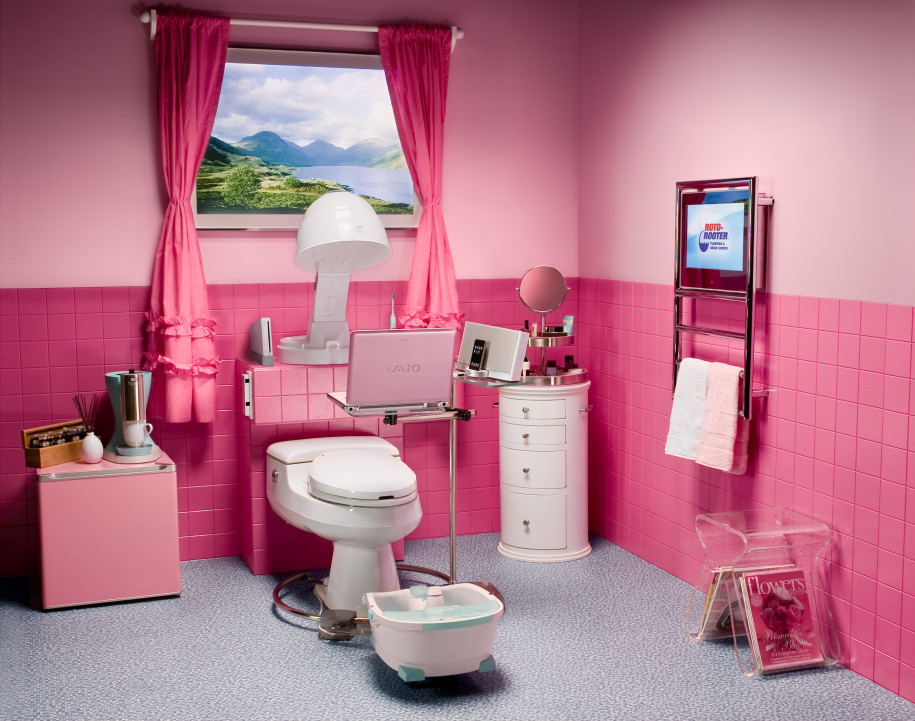Girls Bathroom Design Girls Bathroom Design In Pink Color  Ewdinteriors