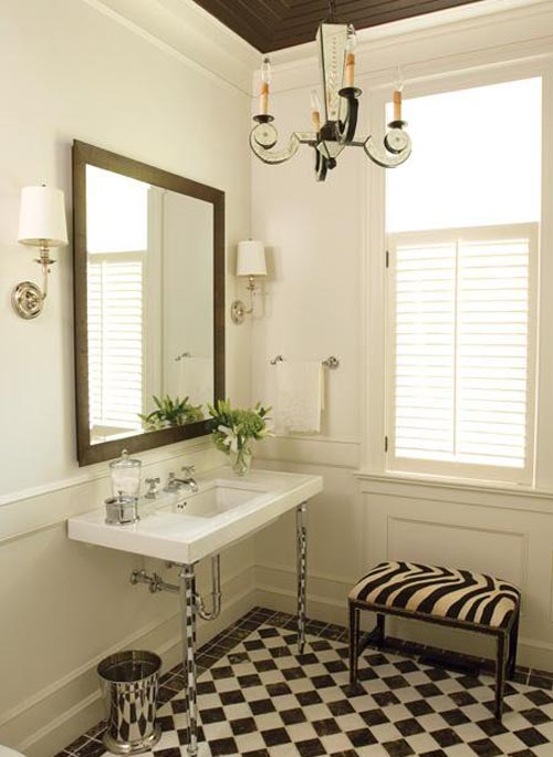 Graphic And Dramatic Classic Bathroom Small Bathroom Decorating