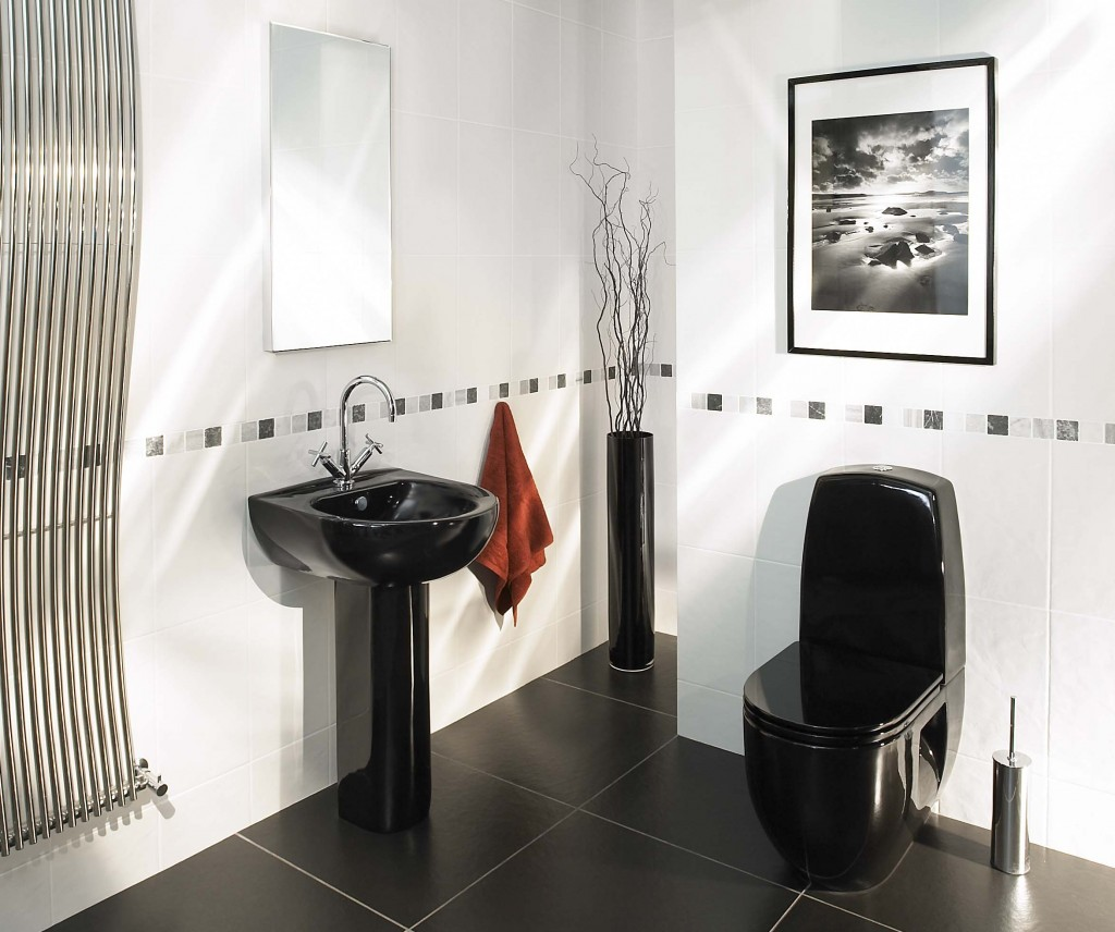Bathroom designs black and white tiles - 6 Photos Of The 6 Top Notch Black And White Small Bathroom Designs