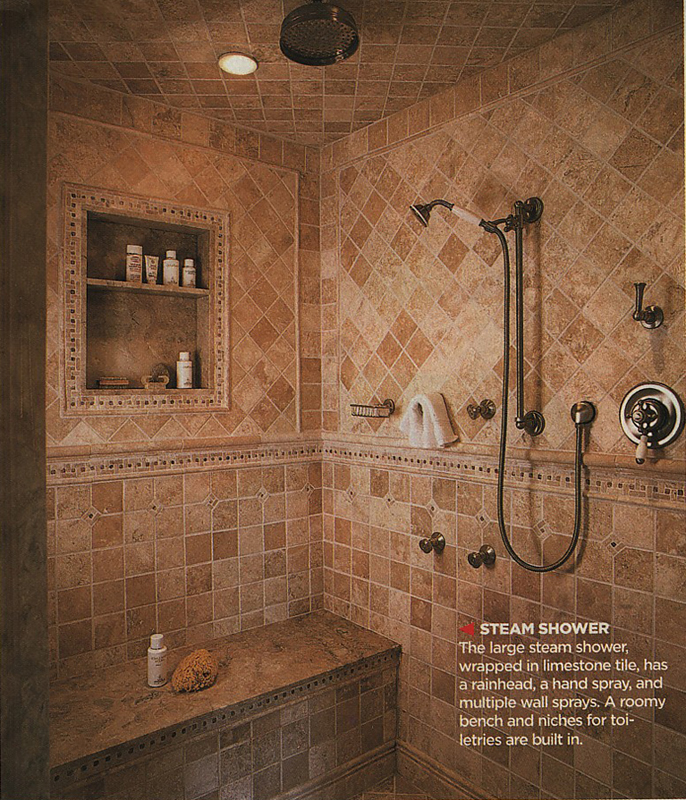 photo gallery of the kohlr fixtures in master shower - Master Showers