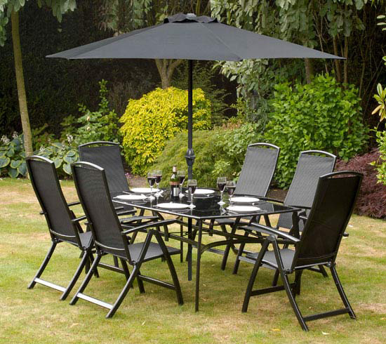 black aluminum patio furniture
