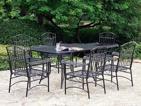 black iron patio furniture