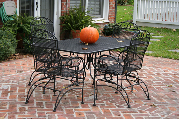 black metal patio furniture