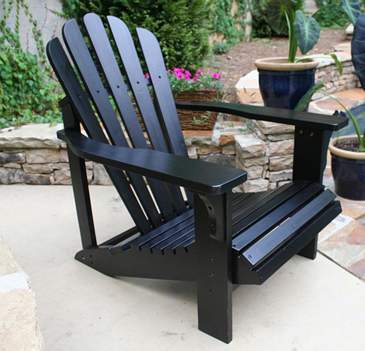 black patio chairs