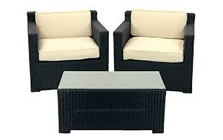 black resin patio furniture