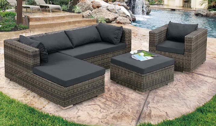 black wicker patio furniture 2