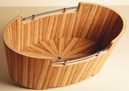 3 Photos of the Exotic Wood Tubs Timber Designs by Arteggiando Design