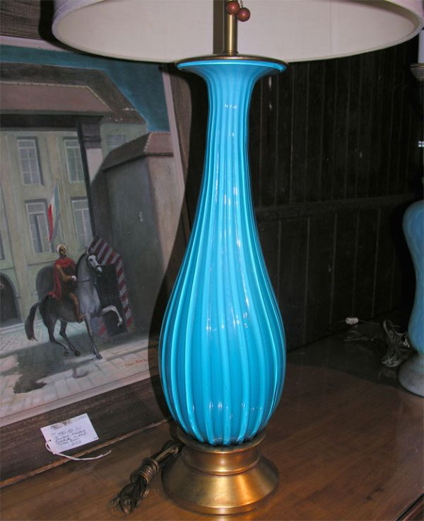 Fascinanting Eye Catching Turquoise Table Lamp Design