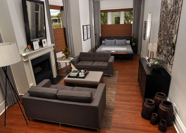 4 Photos Of The Turn Your Living Room Into A Bedroom